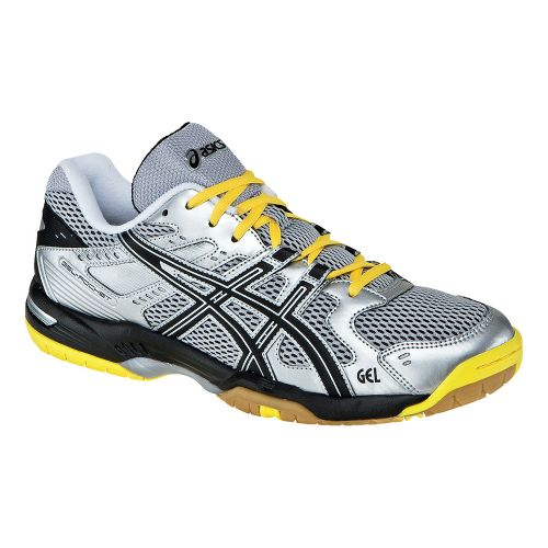Mens ASICS GEL-Rocket 6 Court Shoe - Silver/Black 13