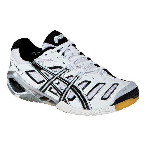 Womens ASICS GEL-Sensei 4 Court Shoe - White/Black 10.5