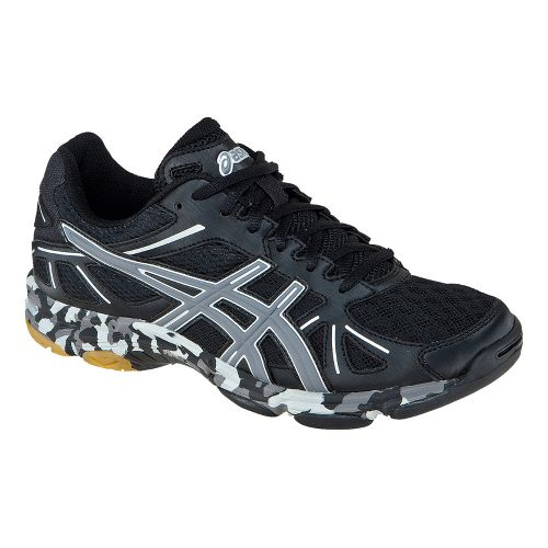 Womens ASICS GEL-Flashpoint Court Shoe - Black/Charcoal 10