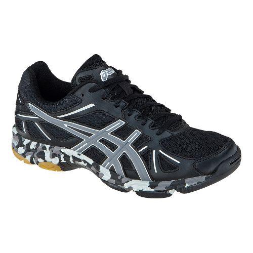 Womens ASICS GEL-Flashpoint Court Shoe - Black/Charcoal 7.5