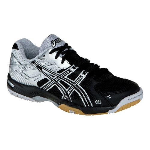 Womens ASICS GEL-Rocket 6 Court Shoe - Black/Silver 10.5