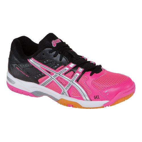 Womens ASICS GEL-Rocket 6 Court Shoe - Pink/Silver 5.5