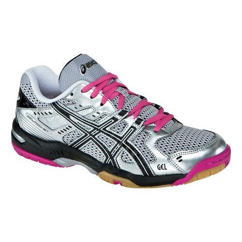 Womens ASICS GEL-Rocket 6 Court Shoe - Silver/Black 6