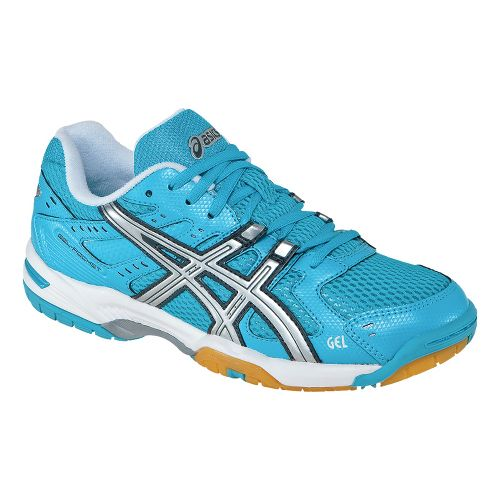 Womens ASICS GEL-Rocket 6 Court Shoe - Turquoise/Silver 6.5