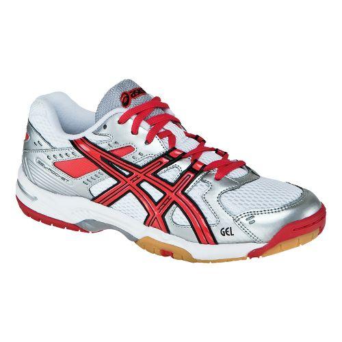 Womens ASICS GEL-Rocket 6 Court Shoe - White/Red 11