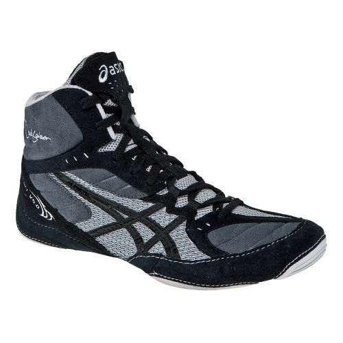 Mens ASICS Cael V5.0 Wrestling Shoe - Black/Black 11.5