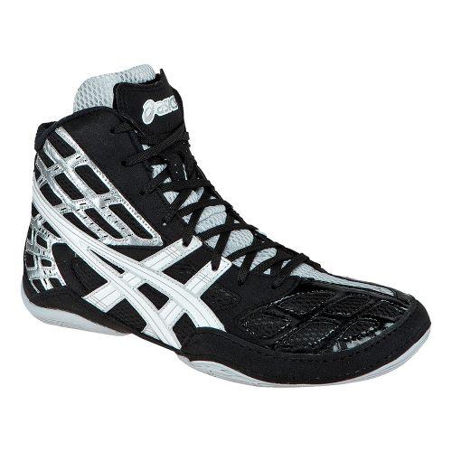 Mens ASICS Split Second 9 Wrestling Shoe - Black/White 6.5