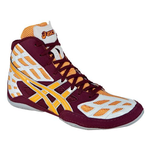 Mens ASICS Split Second 9 Wrestling Shoe - Cardinal/Tang 12.5