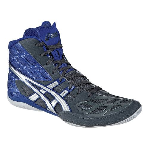 Mens ASICS Split Second 9 Wrestling Shoe - Graphite/Silver 7.5