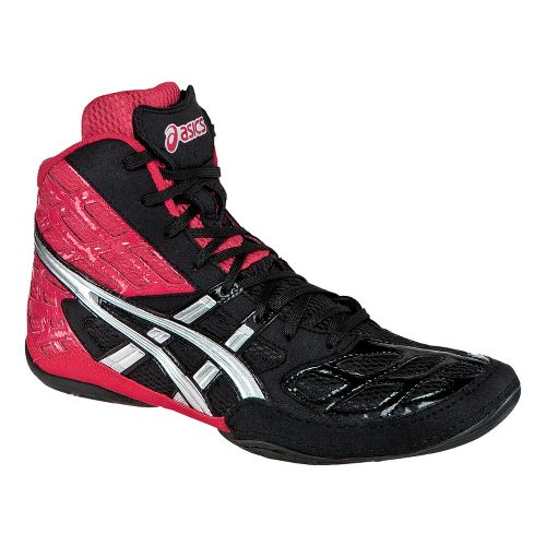 Mens ASICS Split Second 9 Wrestling Shoe - Red/Silver 18