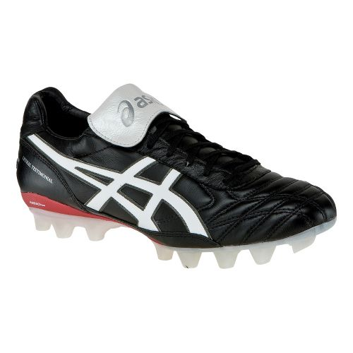 Mens ASICS Lethal Testimonial 2 IT Track and Field Shoe - Black/White 10.5