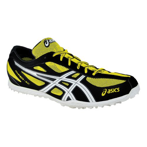 Mens ASICS Hyper XCS Cross Country Shoe - Electric Lemon/White 14