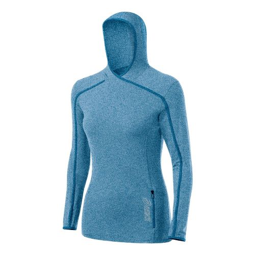 Womens ASICS Jaide Hoody Long Sleeve No Zip Technical Tops - Peacock S