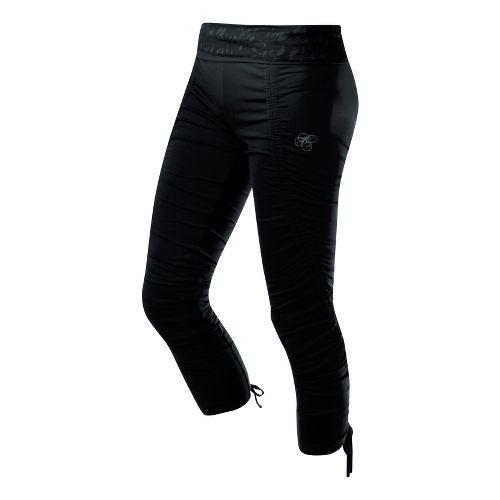 Womens ASICS AYAMi Rouche Tight Capri Tights - Performance Black XL