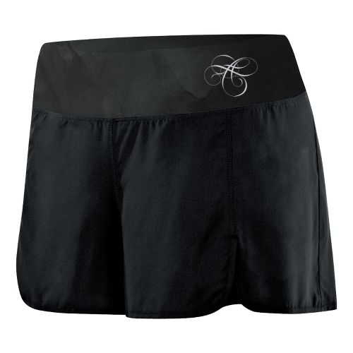 Womens ASICS AYAMi 2-N-1 Short 2-in-1 Shorts - Black Watersplash XL