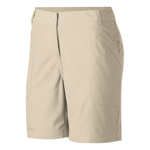 Womens ASICS Coaches Short Unlined Shorts - Stone 10