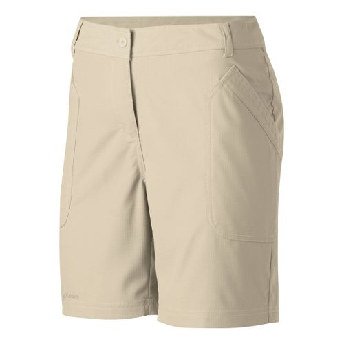 Womens ASICS Coaches Short Unlined Shorts - Stone 14