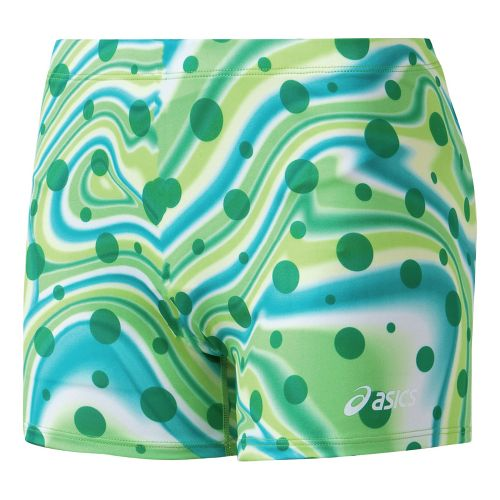 Womens ASICS Essence Short Tailored Shorts - Forest/White L