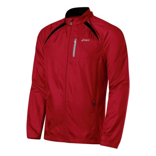 Mens ASICS 2-N-1 Jacket Running Jackets - Brick/Black L