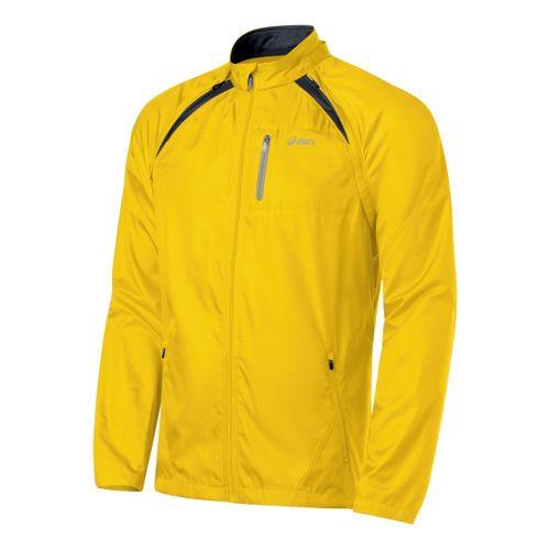 Mens ASICS 2-N-1 Jacket Running Jackets - Bronze/Black M