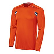 Mens ASICS Performance Long Sleeve Long Sleeve No Zip Technical Tops