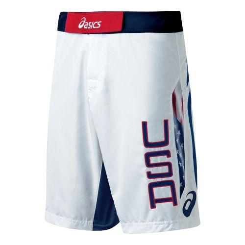 Mens ASICS USA Razor Short Unlined Shorts - White/Navy 32