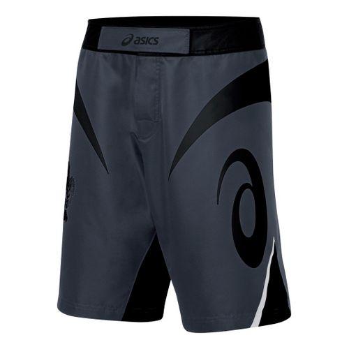 Mens ASICS Bull Short Unlined Shorts - Black/Grey 32