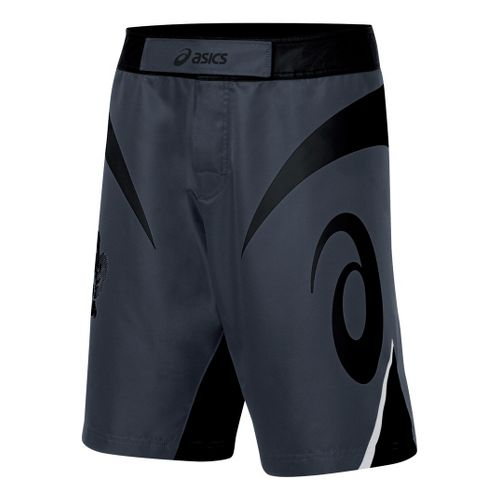 Mens ASICS Bull Short Unlined Shorts - Black/Grey 36