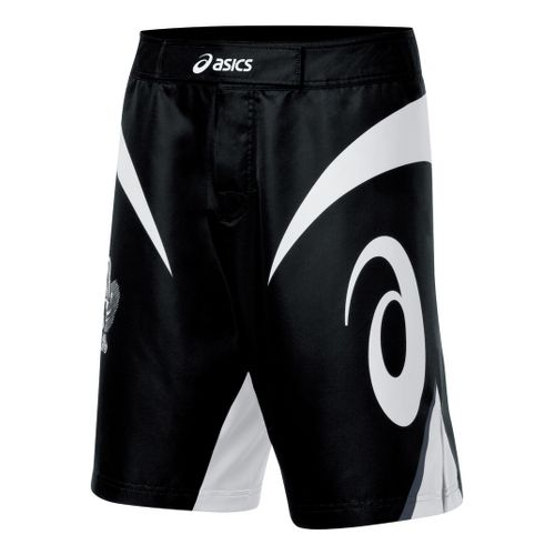 Mens ASICS Bull Short Unlined Shorts - Black/White 28