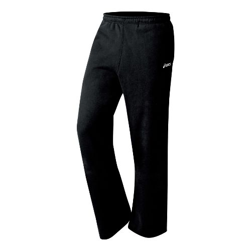 Mens ASICS Fleece Pant Warm-Up Pants - Black XS