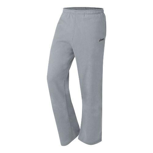 Mens ASICS Fleece Pant Warm-Up Pants - Heather Grey M