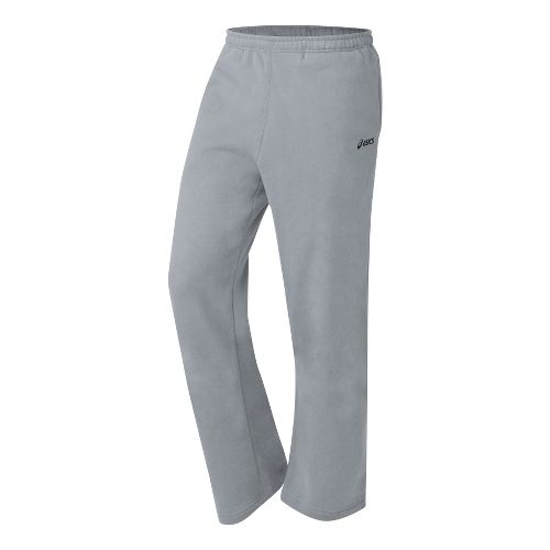 Mens ASICS Fleece Pant Warm-Up Pants - Heather Grey S