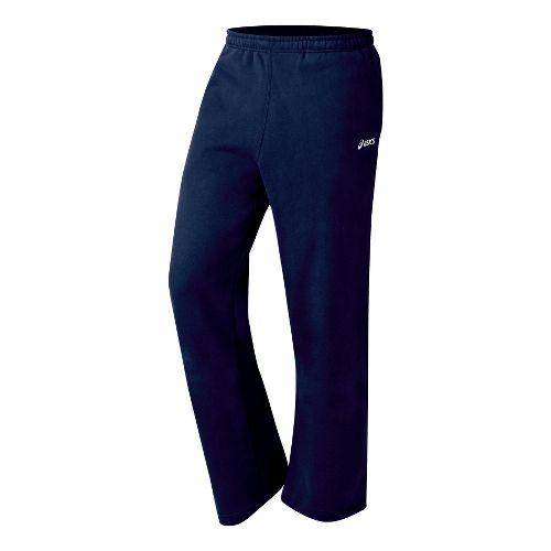 Mens ASICS Fleece Pant Warm-Up Pants - Navy XS