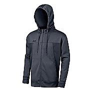Mens ASICS Poly Tech Zip Hoody Long Sleeve Full Zip Technical Tops