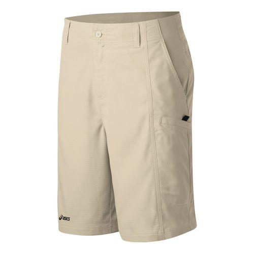 Mens ASICS Cargo Coaches Short Unlined Shorts - Stone 32
