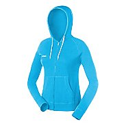 Womens ASICS Fleece Hoody Long Sleeve Full Zip Technical Tops