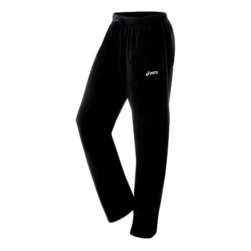 Womens ASICS Fleece Pant Warm-Up Pants - Black L
