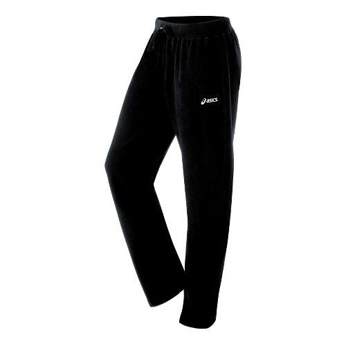 Womens ASICS Fleece Pant Warm-Up Pants - Black S
