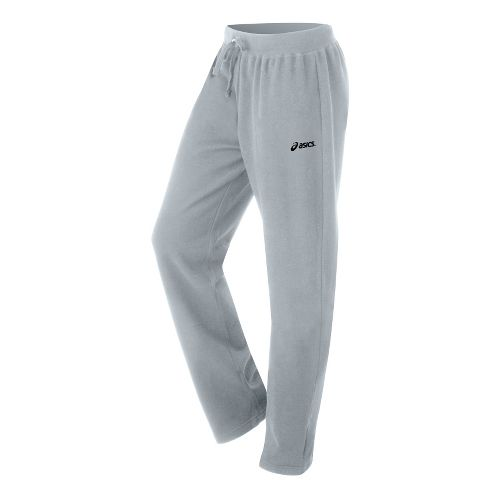 Womens ASICS Fleece Pant Warm-Up Pants - Heather Grey L
