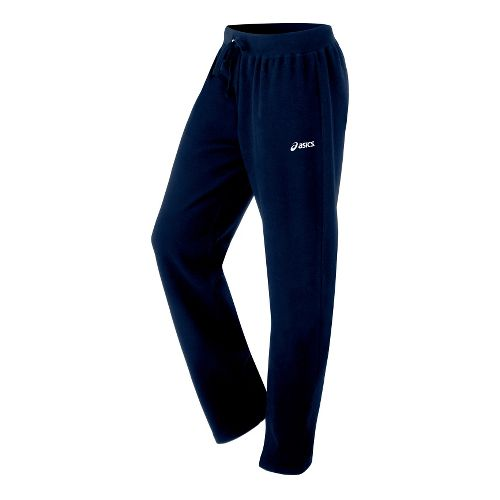 Womens ASICS Fleece Pant Warm-Up Pants - Navy XS