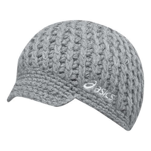 ASICS Tegan Visor Beanie Headwear - Heather Grey/White