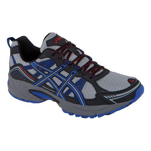 Mens ASICS GEL-Venture 4 Trail Running Shoe - Onyx/Beach Glass 13