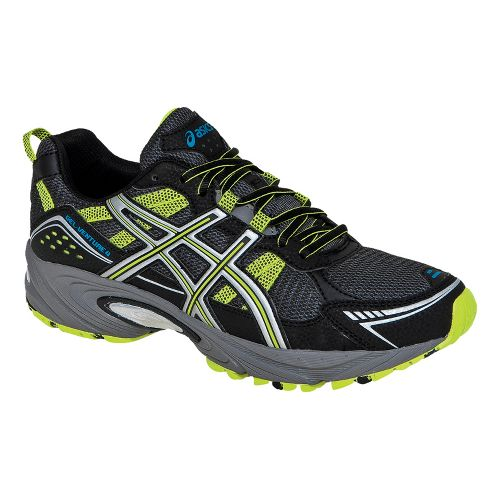 Mens ASICS GEL-Venture 4 Trail Running Shoe - Black/Lime 7