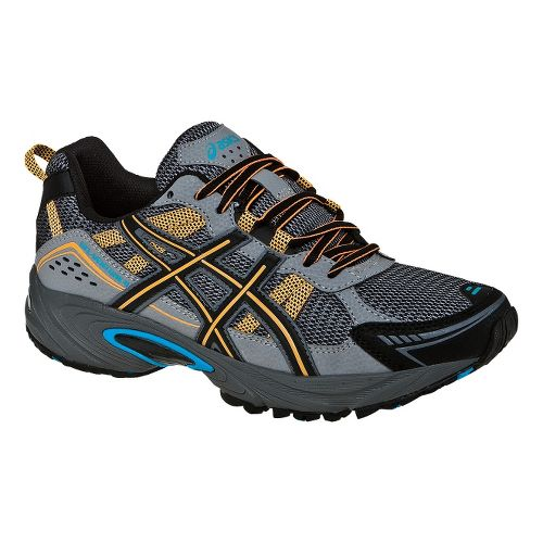 Mens ASICS GEL-Venture 4 Trail Running Shoe - Carbon/Marigold 11