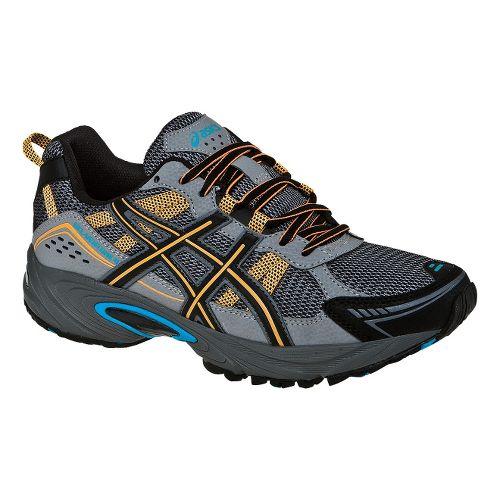 Mens ASICS GEL-Venture 4 Trail Running Shoe - Carbon/Marigold 11