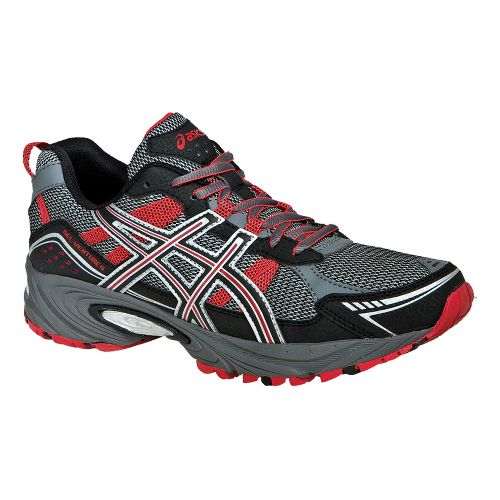 Mens ASICS GEL-Venture 4 Trail Running Shoe - Charcoal/Black 14