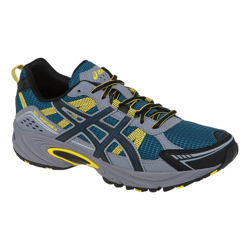 Mens ASICS GEL-Venture 4 Trail Running Shoe - Mallard Blue/Yellow 13