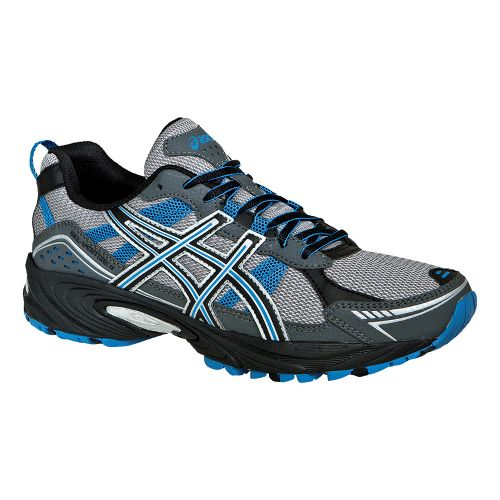 Mens ASICS GEL-Venture 4 Trail Running Shoe - Onyx/Beach Glass 12