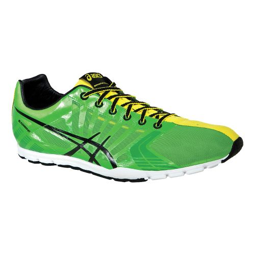 Mens ASICS BlazingFAST Running Shoe - Green/Black 10.5