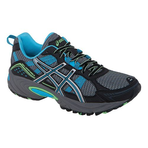 Womens ASICS GEL-Venture 4 Trail Running Shoe - Onyx/Beach Glass 7.5